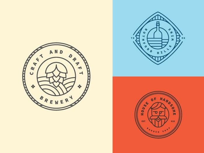 3 Vintage Logo Template