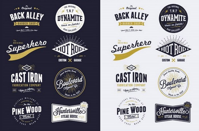 Free Customizable Vector Vintage Style Logo Designs