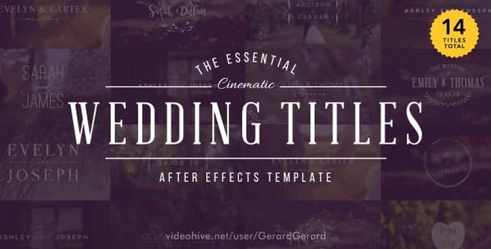 After Effects Wedding Titles