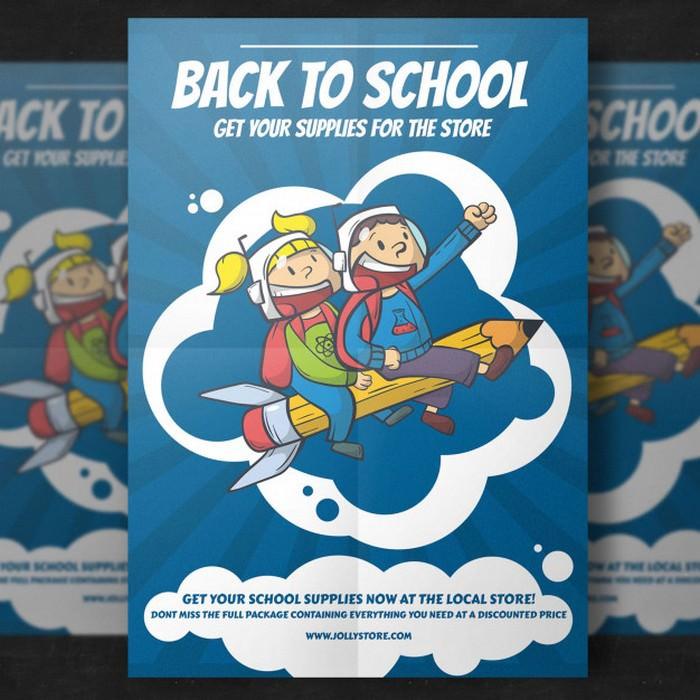 Back School Flyer Template