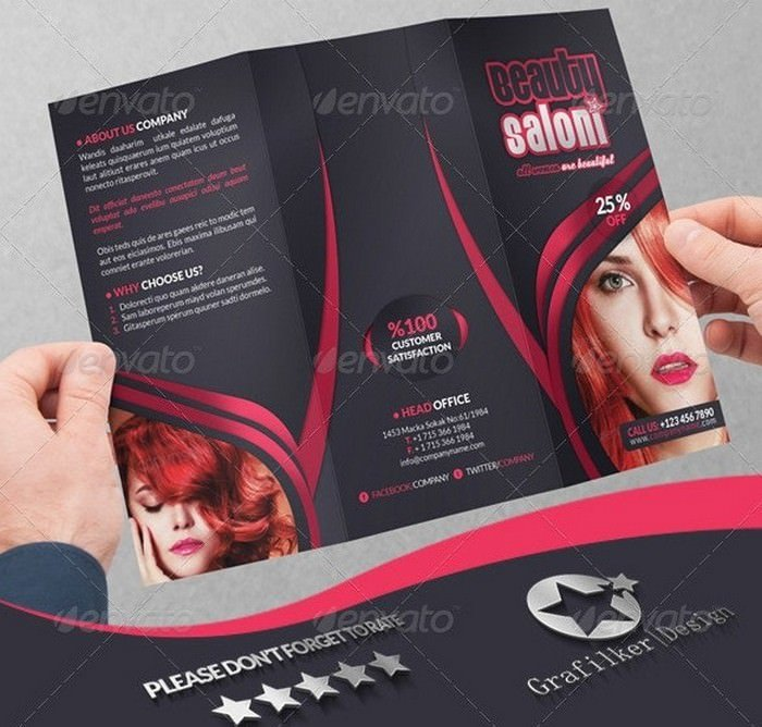Beauty Salon Business Tri-Fold