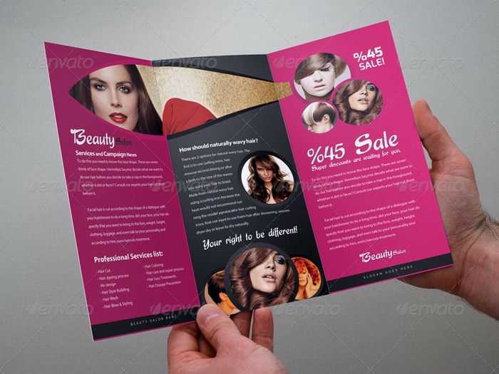 Beauty Salon - Tri-Fold Brochure