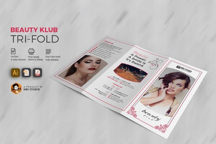 Beauty Salon Tri-Fold