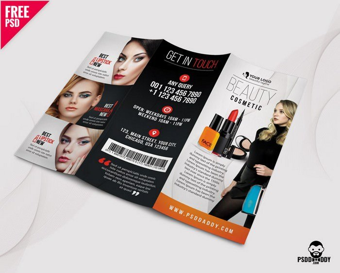 Salon TriFold Brochure PSD