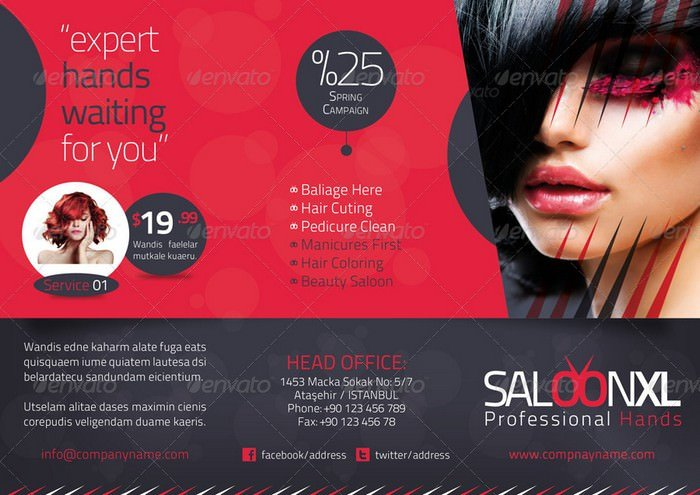 Beauty Saloon Tri-Fold Template