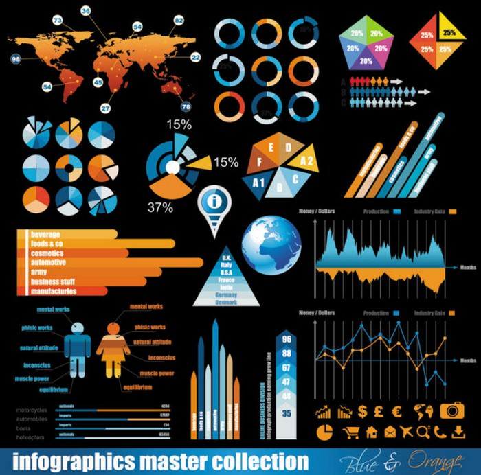 Business data elements vector – 01