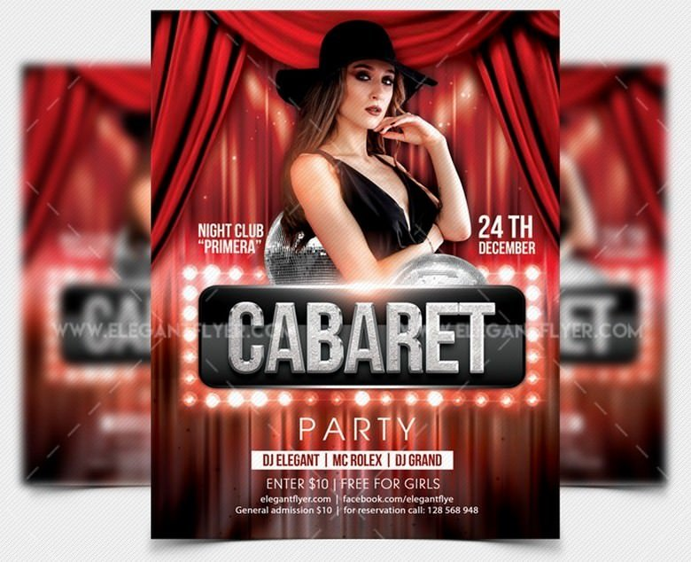 Cabaret Party – Free Party Flyer