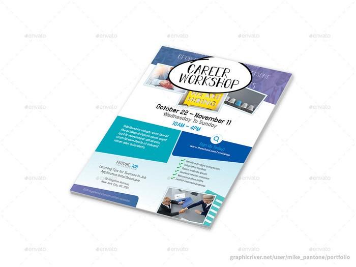 Career Workshop Flyers 4 Options