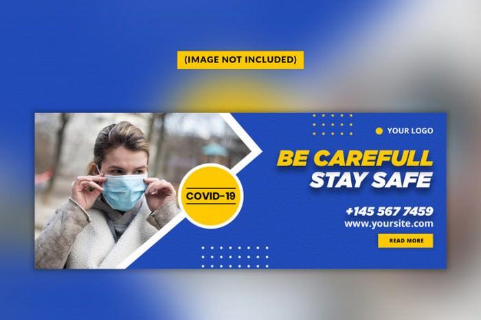 Convid 19 Facebook Cover Template