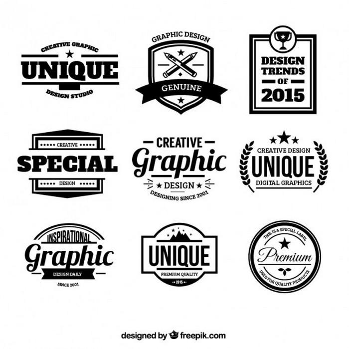 Design Badges Retro Style