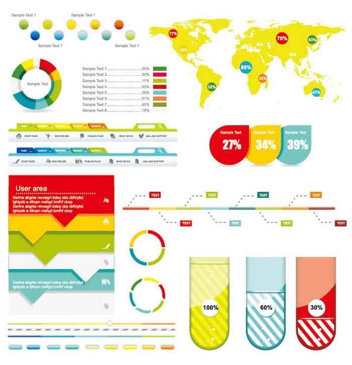 Economy infographics Design Elements Vector Graphic