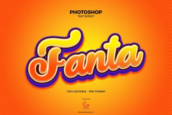 Fanta Text Effect