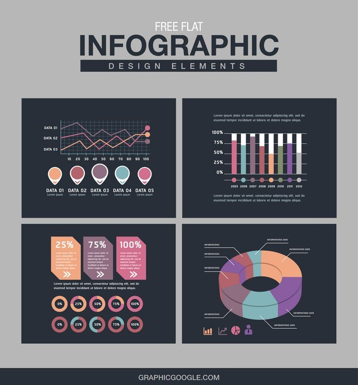 Flat Infographic Design Elements