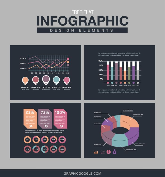 Flat Infographic Design Elements