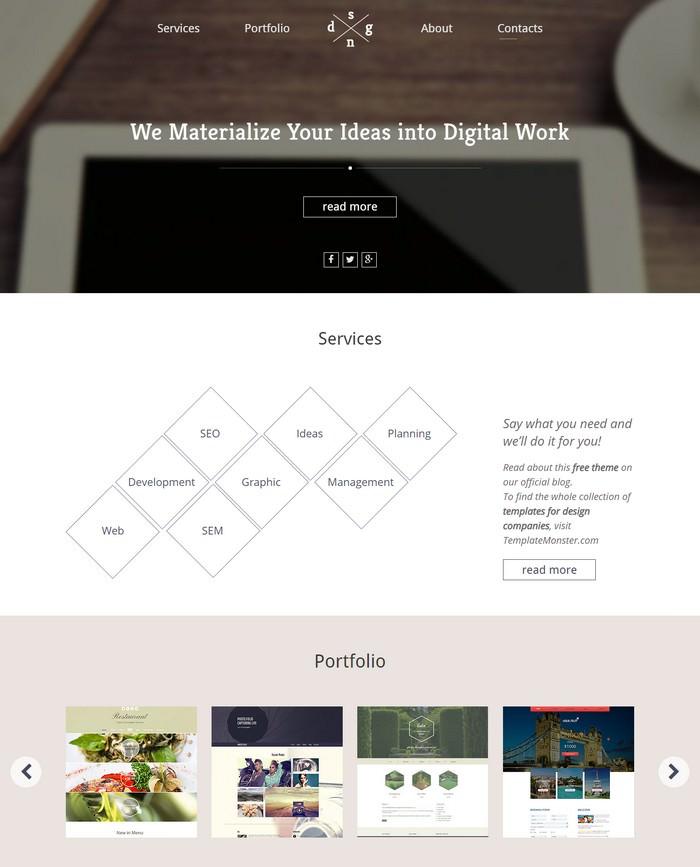 Free HTML5 Single Page Theme