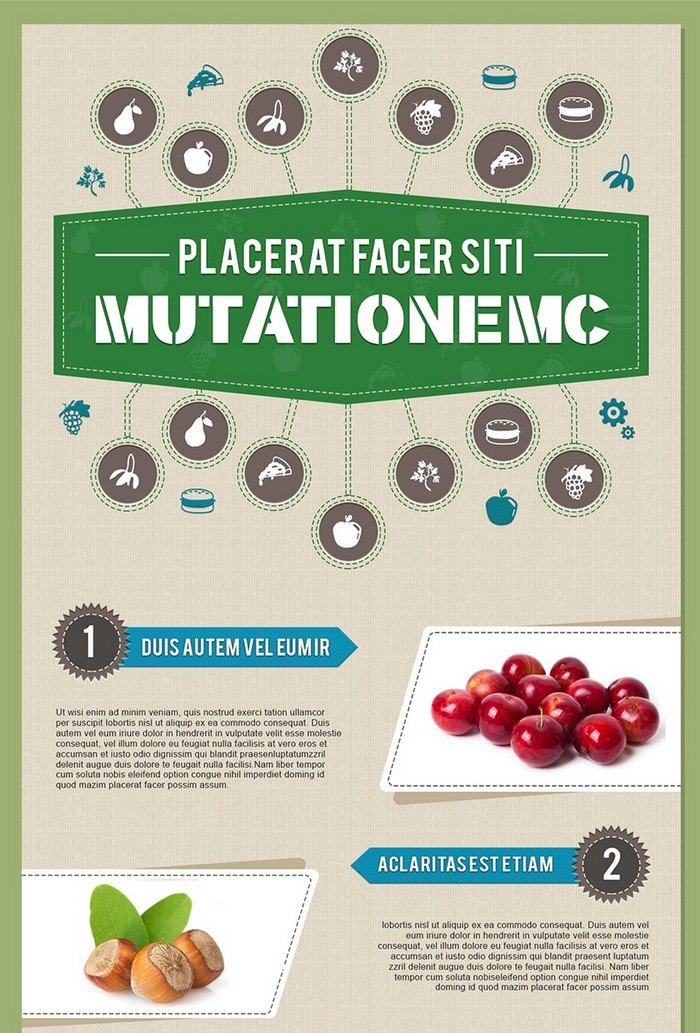 Infographics Psd Template In Food And Nutrition Theme