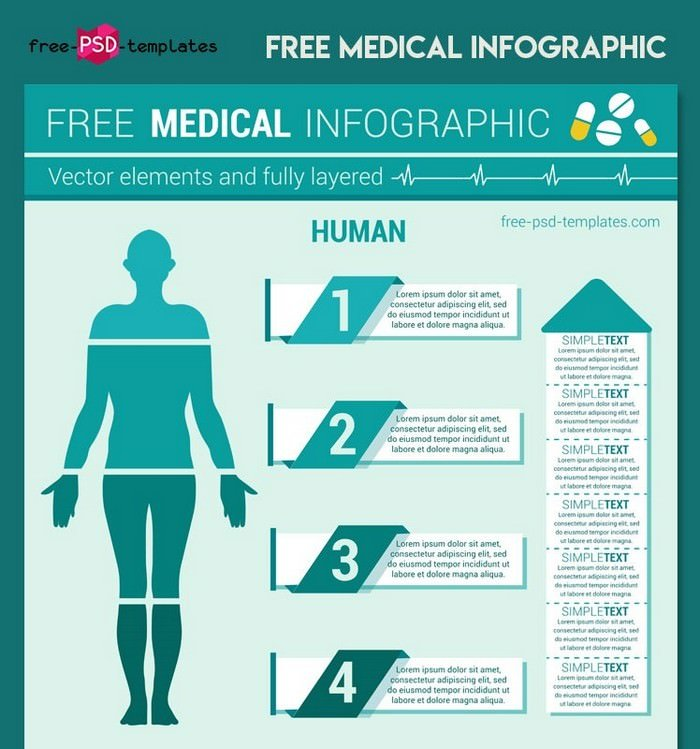 Vector Medical Infographic Template