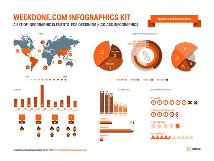 vector infographic elements kit