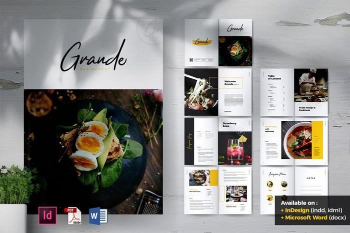 Grande Restaurant & Food Brochure