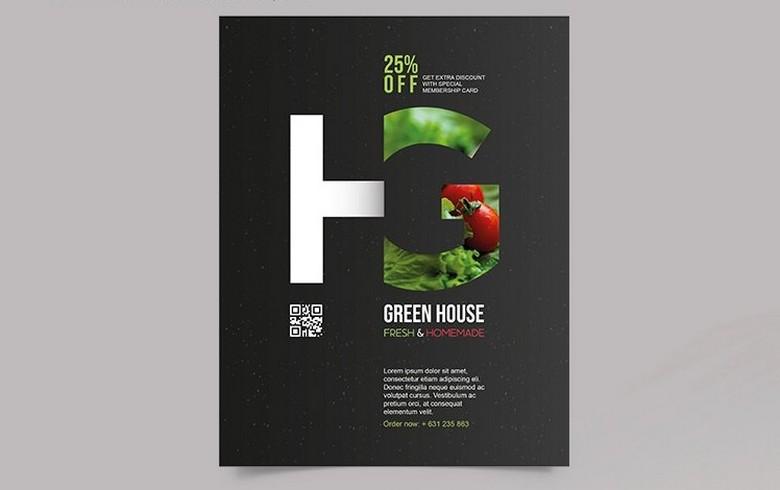 Greenhouse Flyer Template - PSD,AI, EPS - 300 DPI