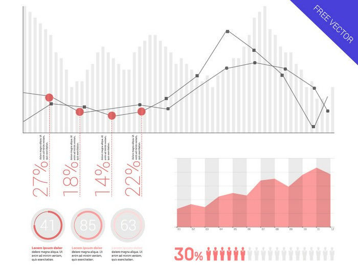 Infographic Elements - Flat UI Design