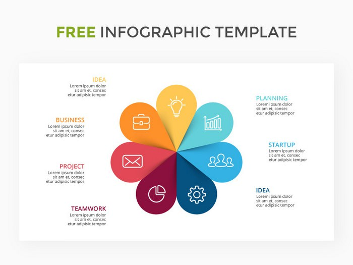 Infographic Template. Customizable Slide. Free
