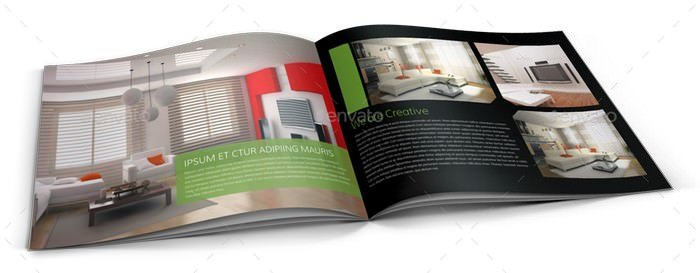 Interior Design Brochure Catalog Template