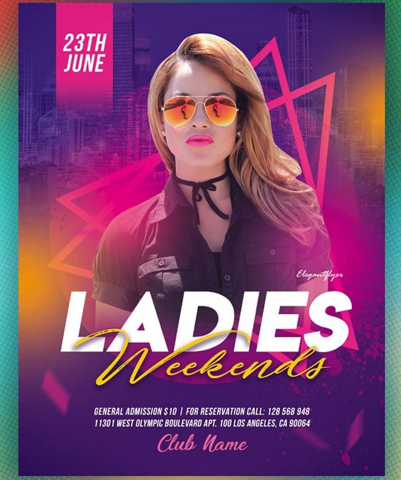 Ladies Weekends – Free Flyer Template