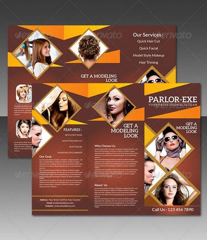 Modeling Parlor Tri Fold Brochure