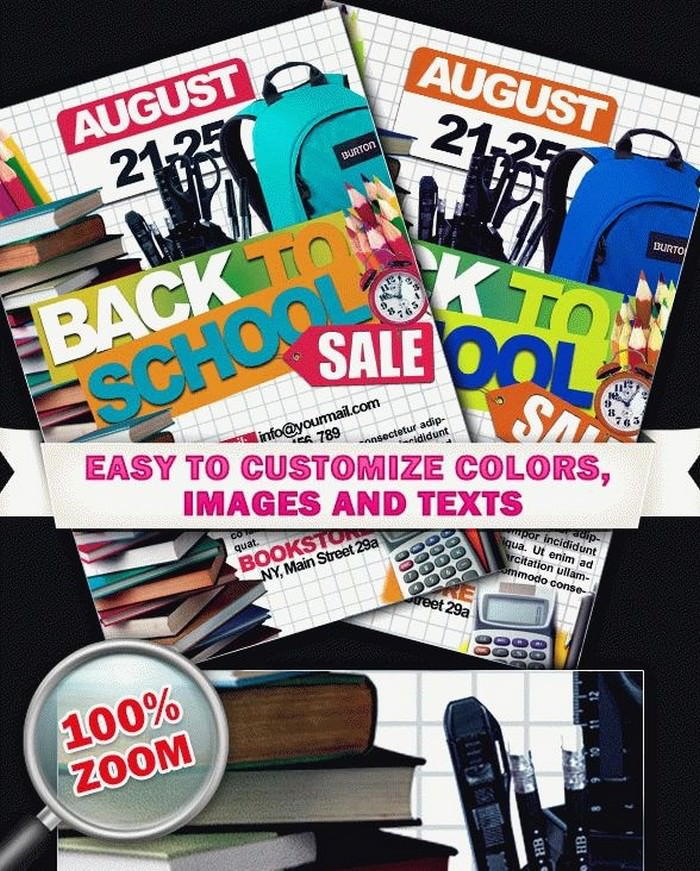 PSD Back to School Sale Template