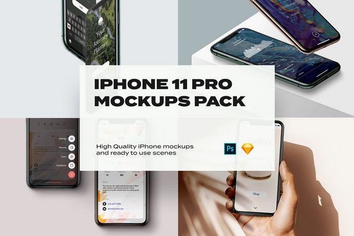 Show More iPhone 11 Mockup PSD