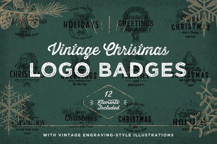 Vintage Christmas Logo