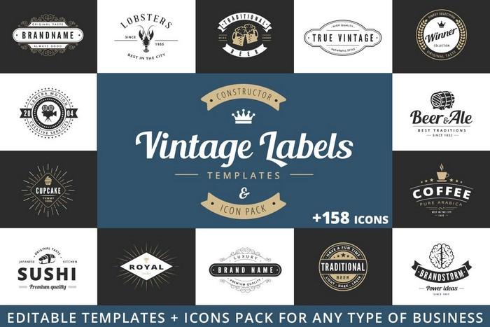 Vintage Labels Logo Constructor