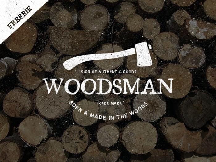 Vintage Woodsman Logo - Freebie