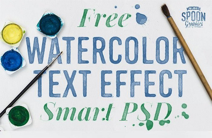 Watercolour Text Effect