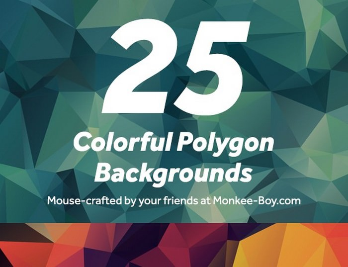 5 Colorful Polygon Backgrounds