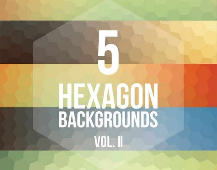 5 Hexagon Backgrounds Vol. II