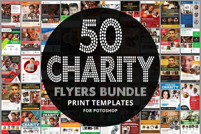 50-Charity Fundraisers Flyers Bundle