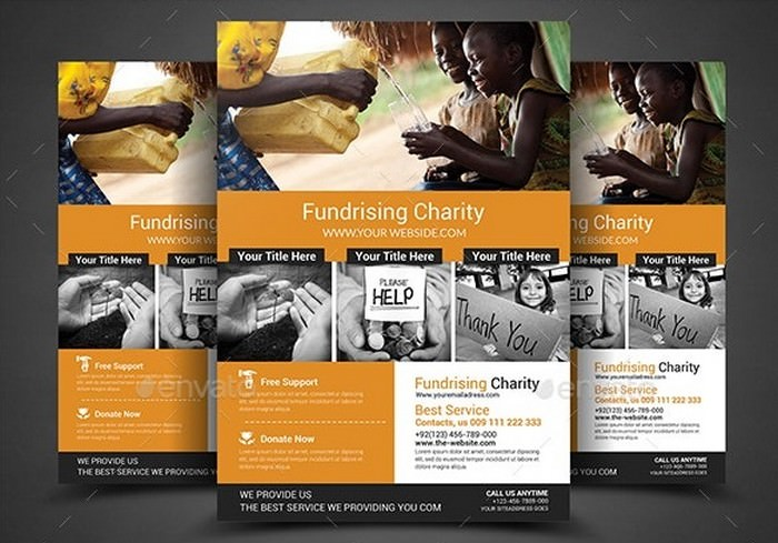 A4 Charity Fundraisers Flyer