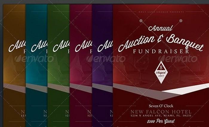 Auction & Banquet Fundraiser Flyer