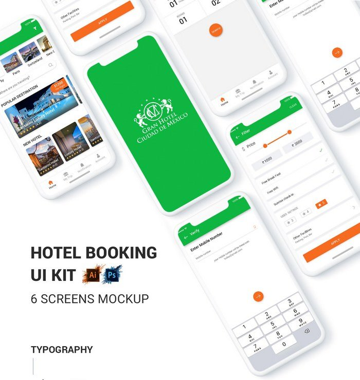 Best Hotel App UI Kit
