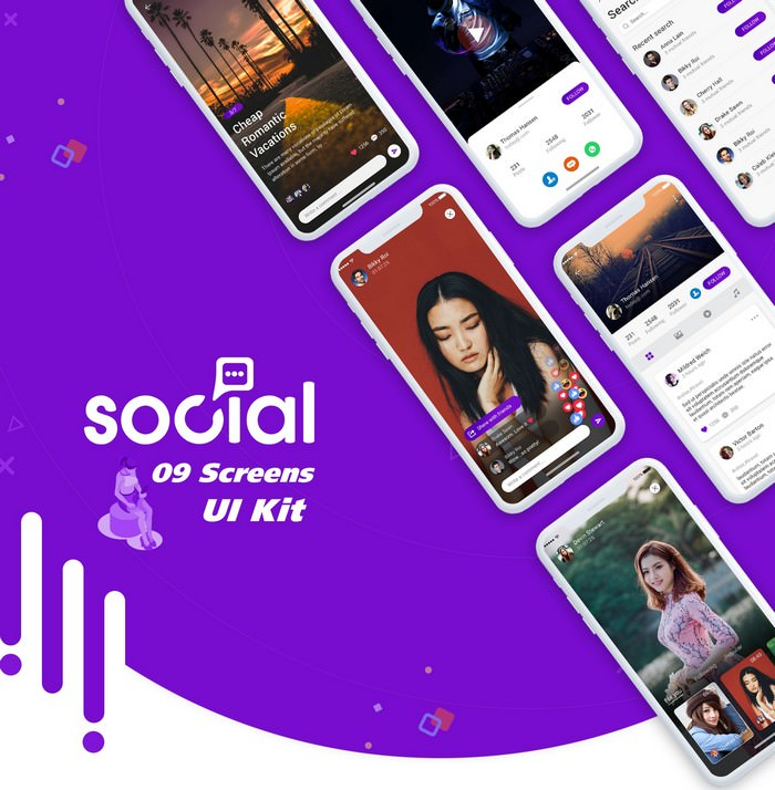 Best Social App Ui Kit design