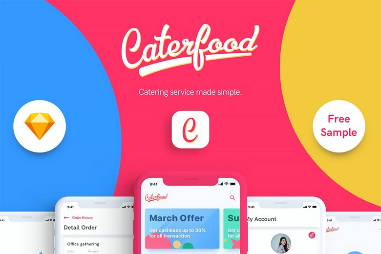 Caterfood Catering Service UI Kit