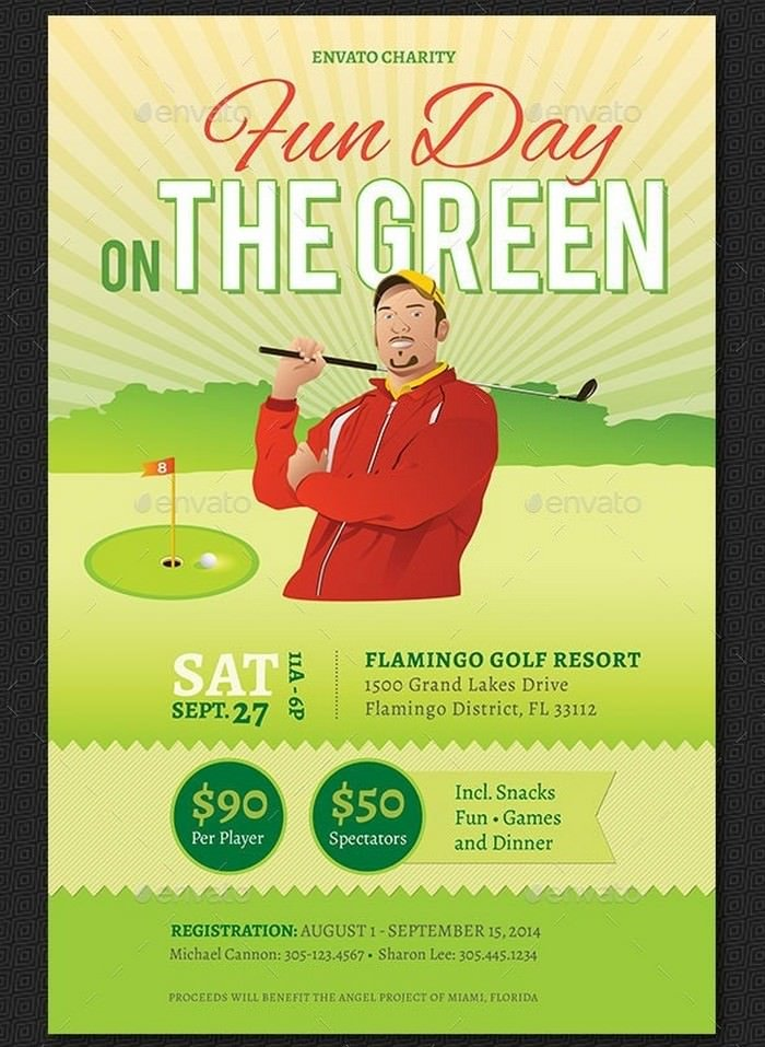Charity Golf Fun Day Flyer Template