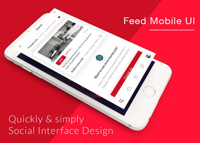 Coffee Cafe Feed Mobile UI