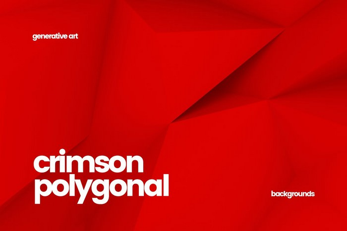 Crimson Polygon Backgrounds