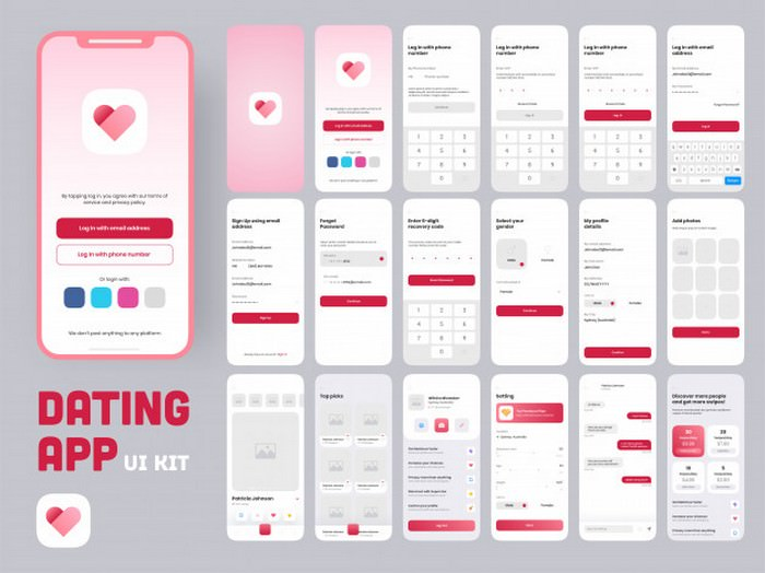 Dating App ui Kit
