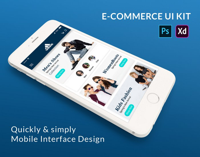 E-Commerce Mobile App UI KIt