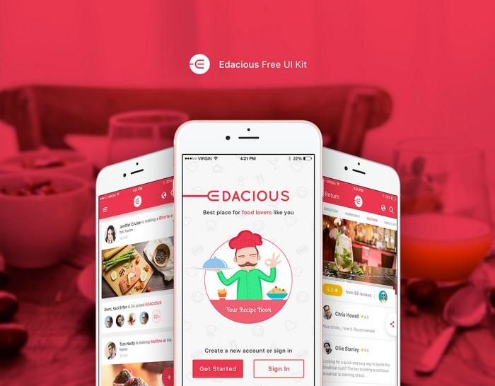 Edacious Free UI Kit