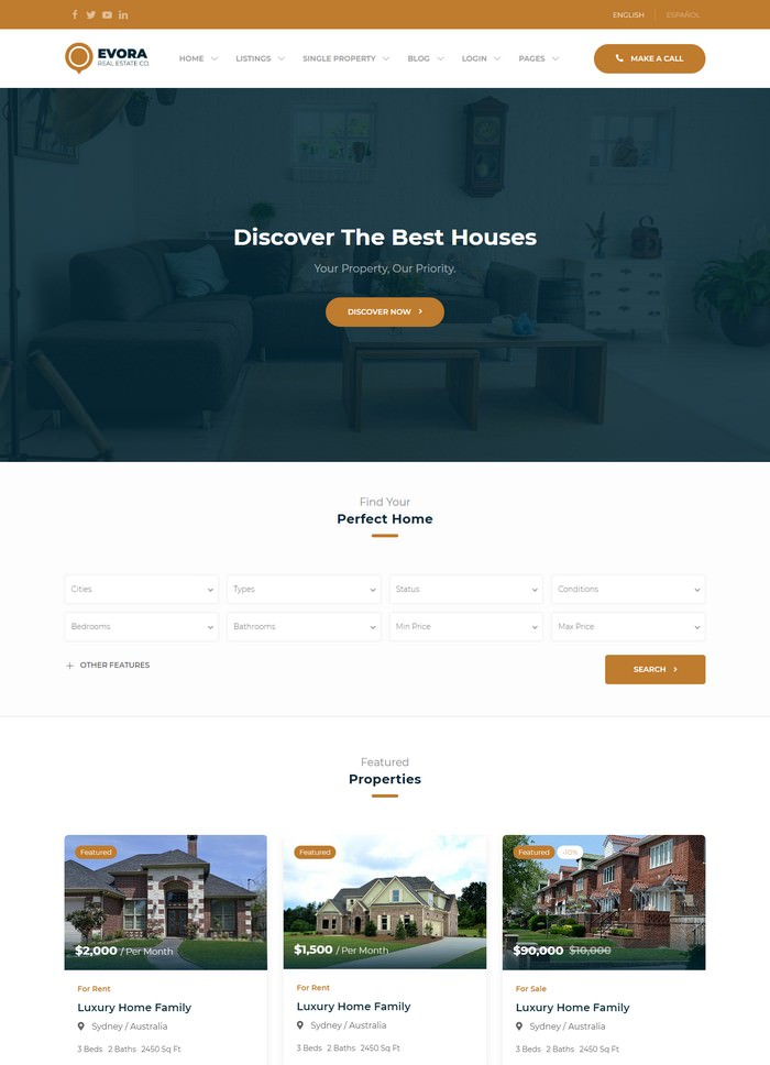 Evora - Real Estate HTML Template